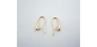 1 paio monachelle piccola lacrima in argento 925 placcato oro italy 18x10 mm