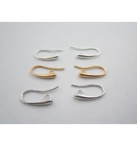 1 paio monachelle piccola lacrima in argento 925 rodiato made in italy 18x10 mm