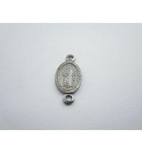 medaglietta madonnina 2 fori per i rosari in argento 925 brunito mis.16,5x8 mm