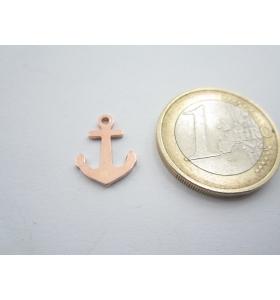 1 ciondolo charms ancora in argento 925 placcato oro rosso mis. 15x11 mm italy