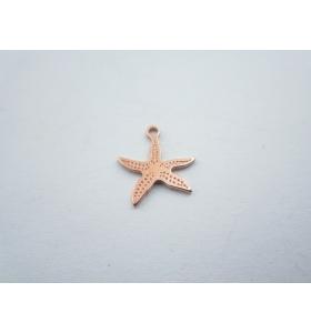ciondolo charms stella marina in argento 925 placcato oro rosso mis.13x12 mm