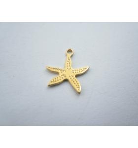 ciondolo charms stella marina in argento 925 placcato oro giallo mis.13x12 mm