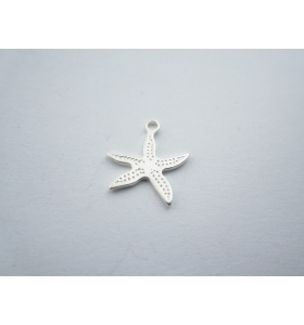 ciondolo charms stella marina in argento 925 sterling misure 13x12 mm italy