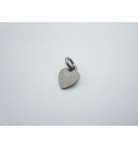 ciondolo charms cuore piccolo in argento 925 sterling brunito misure 12x7 mm