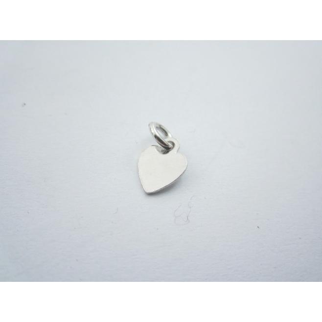 ciondolo charms cuore piccolo in argento 925 rodiato misure 12x7 mm made italy