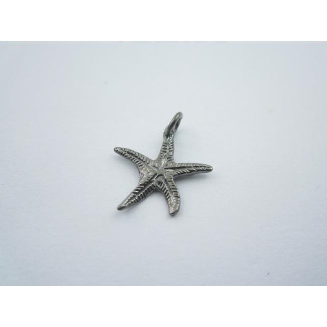 ciondolo charms stella marina in argento 925 brunito misure 17x16 mm made italy