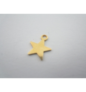 ciondolo charms stellina in argento 925 placcato oro giallo di 10x8,5 mm
