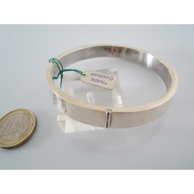 migliore selezione di vendibile lusso bracciale in argento 925 sterling rigido tondo con apertura del diametro mm  70