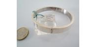 bracciale in argento 925 sterling rigido tondo con apertura del diametro mm 70