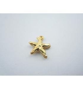ciondolo charms stella marina in argento 925 placcato oro giallo mis.15x12,5 mm