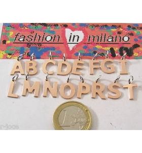 ciondoli charms lettere alfabetto in argento 925 placcato oro rosè