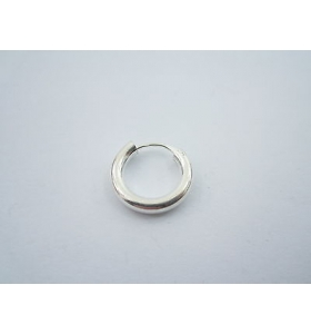 orecchino singolo cerchietto del diametro di 16 mm tub.3 mm argento 925  unisex