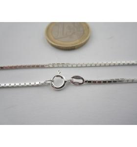 catenina lunga 40 cm veneziana grossa di 1,8x1,8 mm argento 925 sterling italy