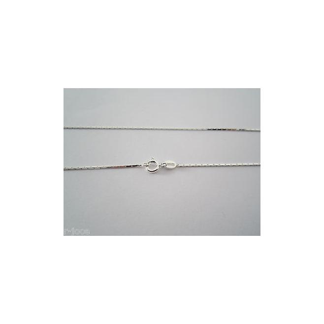 1 catenina modello cobra lunga 45 cm. argento 925 made in Italy mis. 08x0,8 mm.