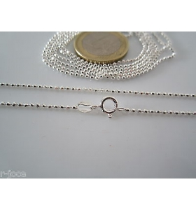 catenina lunga 55 cm in argento 925 sterling pallini sfac. diamantati di 1,5 mm