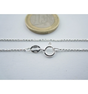 catenina lunga 80 cm argento 925 sterling pallini sfaccettati diamantati 1,2 mm