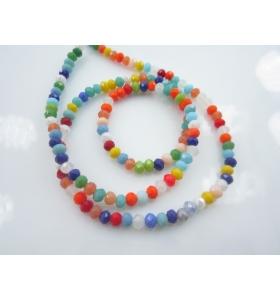 1 filo con più di 140 cristalli mix color stondati misura 4,5x3mm lungo 47 cm