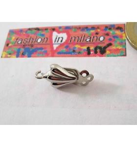 1 clip no foro per orecchini argento 925 rodiato made in italy