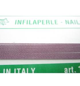1 infila perle color cipolla con ago in rame 180 cm n° da 1 a 9