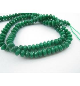 1 filo in pietre di radice di smeraldo di 5x3 mm stondate