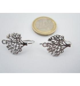 1 paio monachelle per orecchini albero della vita argento 925 rodiato