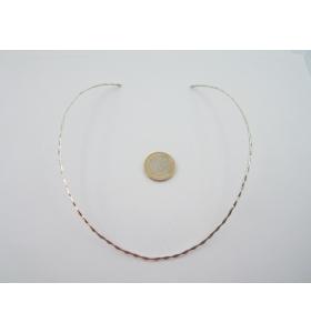 girocollo rigido in argento 925 di 14X12,5 CM adatto collo 36/42 cm