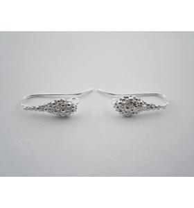 1 paio monachelle goccia puntinata  in argento 925
