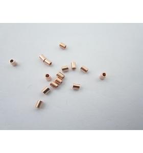 1 grammo di schiaccini speciali tubolari argento 925 placcati oro rosso italy