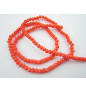 1 filo con più di 140 cristalli arancione stondati misura 4,5x3mm lungo 47 cm