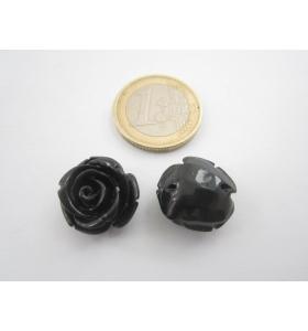 1 rosellina in composto pasta di onice nera cristallizzato 16x11,5 mm