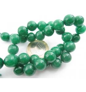 1 filo in radice di smeraldo cabochon di 10 mm lungo 38,5 cm contiene 39 pietre
