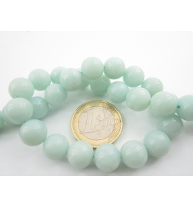 1 filo di 40 perle in amazonite chiara di 10 mm lungo 39 cm di 1° scelta