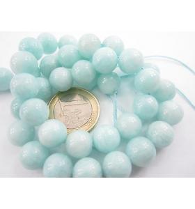 1 filo di 40 perle in amazonite chiara di 10 mm lungo 40 cm qualità A+++