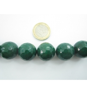 1 pietra sfaccettata del diametro di 20 in radice di smeraldo