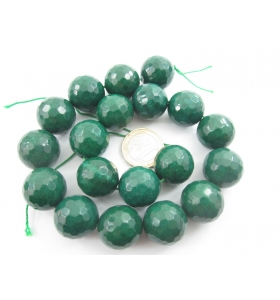1 filo 19 pietre sfaccettate del diametro di 20 in radice di smerald lungo 39 cm