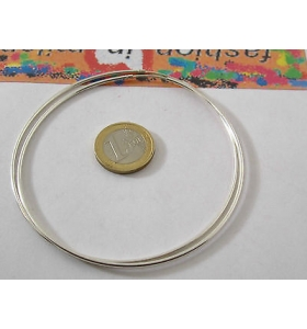 1 paio di orecchini in argento 925 cerchi molto grandi diametro 72 mm