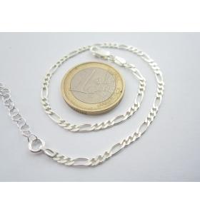 bracciale uomo unisex argento 925 maglia classica italiana lungo 21,5 cm a 25 cm