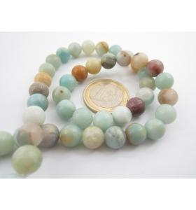 GRANDI OCCASIONI 1 filo di amazonite perle da 8 mm 52pz