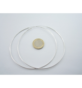 orecchini cerchio grandissimi diametro 90 mm in argento 925 tubolare fine 1,5 mm