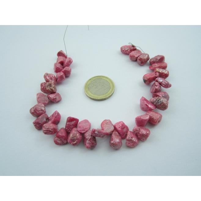 1 filo di raro rubino rosa naturale grezzodello sri lanka 186,5 carati totali