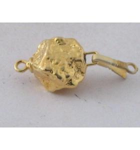 chiusura pepita in argento 925 placcato oro giallo misure 22x12 mm made in italy