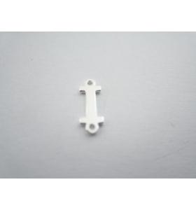 1 connettore 2 fori lettera I in argento 925 made in italy misure 11 x 4 mm