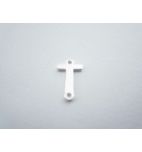 1 connettore 2 fori lettera T in argento 925 made in italy misure 11 x 6 mm