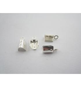 2 capicorda grandi in argento 925 italy adatti diametri 3/4 mm misure 10 x 6 mm
