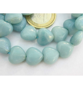 2 cuoricini in amazonite naturale da 10x10 mm