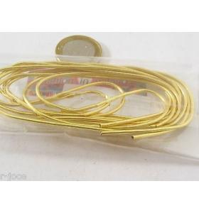 1 sacchetto di circa 6 grammi di canutiglia dorata media 1,2 mm interno 0,9 mm