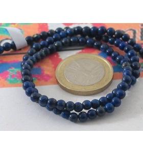 1 filo pietre in lapislazzuli naturale del diametro di 6 mm lungo 39 cm