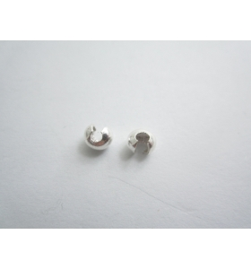 2 copri schiaccino in argento 925 sterling di 5 x 4,5 mm made in italy