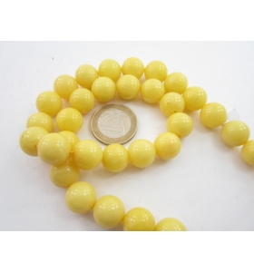 1 filo di agata giallo chiaro cabochon di 12 mm lungo 39 cm 32 pietre