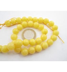 2 pietre in agata giallo chiaro cabochon di 10 mm